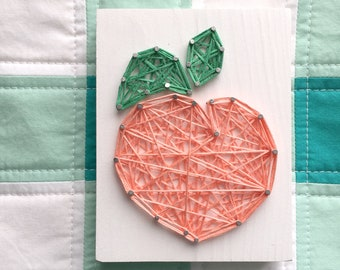 MADE TO ORDER String Art Mini Peach Sign