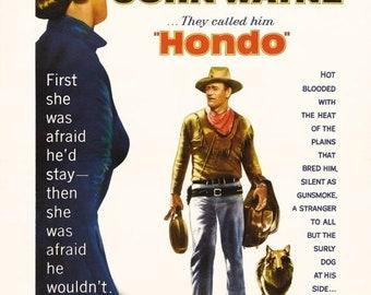 Spring Sales Event: Hondo 1953 Drama/Romance Movie POSTER John Wayne