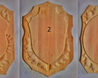 Wooden engraved base shield taxidermy trophy Mounting Plaque 1