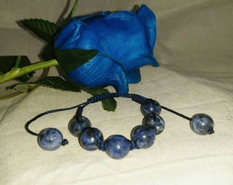 Sodalite Blitz - Woven Bracelet
