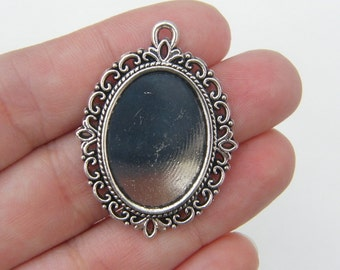 Frame pendants etsy 2 frame pendants antique silver tone fs237 mozeypictures Gallery