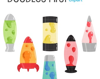 Groovy Lava Lamps Day Digital Clip Art For Scrapbooking Card Making Cupcake  Toppers Paper Crafts