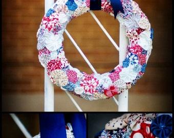 YO YO 4th of July Wreath, Americana WREATH