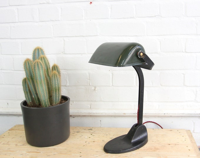 Factory Office Desk Lamp By Viktoria Circa 1920s