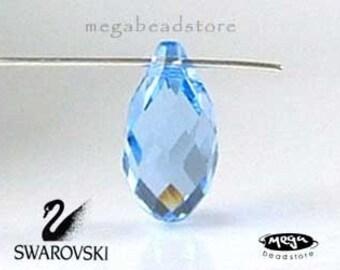 6 pcs 11mm Light Sapphire Swarovski Crystal 6010 Briolette Tear Drop