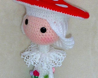 Doll crochet - beautiful mushroom doll
