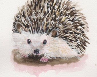 Hedgehog - Original Watercolor