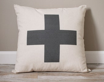 Swiss Cross Pillow | Personalized Pillow | Custom Gift | Monogrammed Gift | Rustic Home Decor | Home Decor | Farmhouse Decor