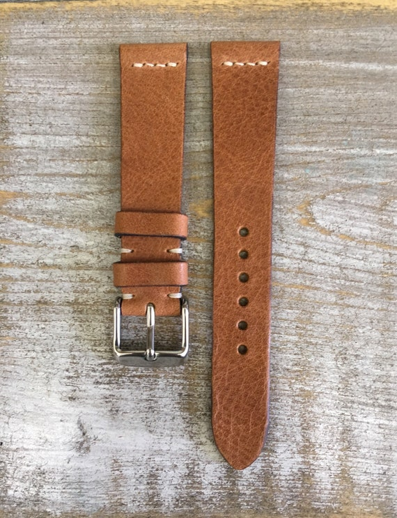 18/16mm Classic Italian Calf watch band - Dark Tan
