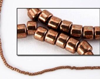 DBV460- 11/0 Galvanized Rose Gold Delica Beads