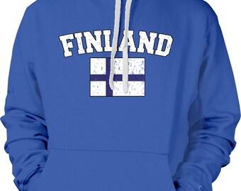Finland Country Flag Sweatshirt, Finn Pride, Finnish Flag, Finland Flag, Suomi, International Country Flag Hoodies FIN_02_2tonehood