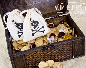 Pirate Party Favor Bags- Set of 10 bags