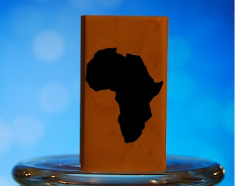 Africa Rubber Stamp Mounted Wood Block Art Stamp