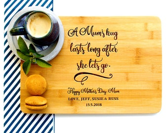 Personalized Cutting Board, Custom Cutting Board, Gift for Mum, A Mum's Hug, Mother's Day