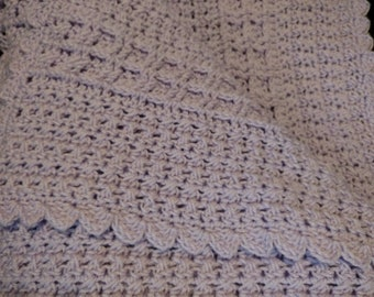Pale purple baby blanket SOLD can be made in any color