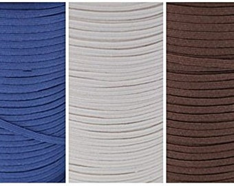 "WHOLESALE 1/8"" Skinny Elastic 200 Yard Roll Color: Brown"