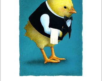 Will Bullas / art print / chick, please... / humor / animals