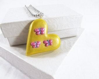 Fluttershy Cutie Mark necklace, my little pony, Cutie Mark Heart pendant, fluttershy cosplay, mlp jewelry, fluttershy heart