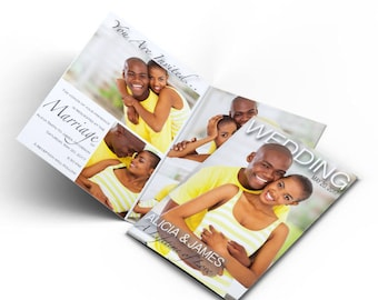 Wedding Magazine Invitations/ Photo invitations/ Wedding Invitations
