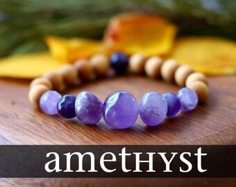 Amethyst Bracelet Healing Crystal Bracelet