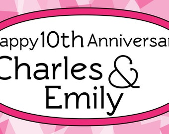 10th Anniversary Banner With Names