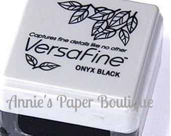 Onyx Black - Versafine Pigment Ink - Stamp Ink Pad - Nice Ink for Planner Stamping - Quick Drying & Crisp Images