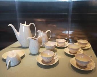 "Lilienporzellan - Corinna ""stylo""- Complete tea set - Austria - 1950's to 60's"