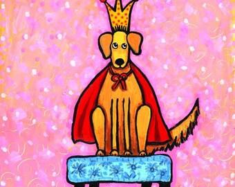 Dog King of Farts -   Golden lab, retriever  dog Print Shelagh Duffett
