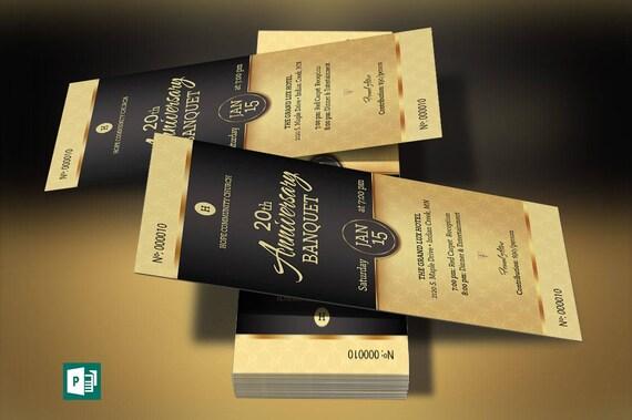 Black Church Anniversary Banquet Ticket Publisher Template