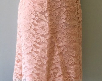 Vintage Mod 1960's Peach Lace Dress