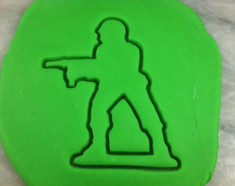 Army Man Cookie Cutter - SHARP EDGES - FAST Shipping - Choose Your Own Size!