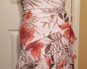 Speechless, Sleeveless Halter Flower Spring Dress, Size M