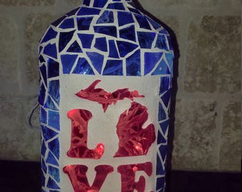 Stained Glass Bottle Night Light