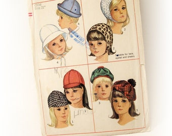 One dollar SALE Simplicity 6274 Pattern for children - Sets of hats - Vintage sewing pattern