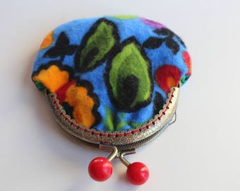Small Coin Purse, Turkish Fabric, Fustian, Kiss lock Coin Purse, change purse, small gift, money holder, coin holder, coin pouch, Ladies bag
