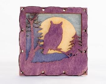 Owl Wall Art - Mountain Wall Art - Owl Wall Decor - Raptor Home Decor - Owl Lover Gift - Owl Cabin Decor - Mountain Decor
