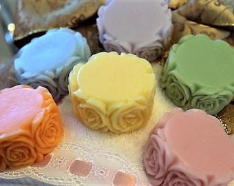 Flower Soap Favors (10), Birthday Favors, Bridal Shower Favors, Wedding Favors, Party Favors, Goat Milk Soap Favors, Bachelorette Party