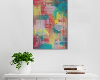 Colourful Abstract Canvas Art | Wall Art | Home Decor | Acrylic Art On Stretch Canvas | Titled Wanderer | By artist Charlie Albright