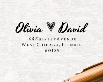 Wedding Stamp, Custom Address Stamp,Save The Date,Self inking Address Stamp,Rubber Stamp Personalized Self Inking Wedding Stationery Stamper