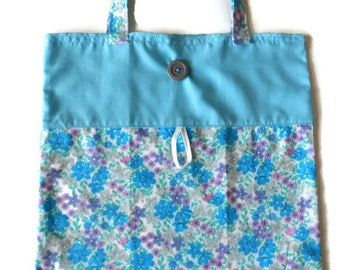 Floral fabric foldable bag