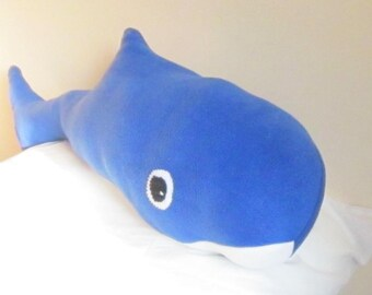 Bertie Blue Whale Ornamental Toy Blue Fleece Ornamental Whale Toy Blue Ornamental Feature Recent Custom Order Available in Other Colours