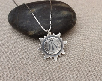 Awen pendant etsy awen necklace awen jewelry stamped awen sun awen pendant mozeypictures Gallery