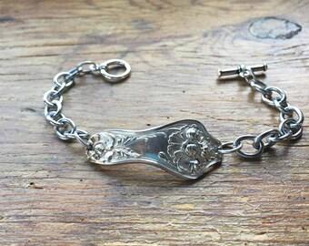 Antique Silverware Bracelet Stainless Steel Chain