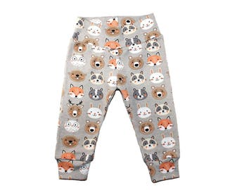 RTS Woodland Animal Leggings - Size 3-6 Months  Woodland Leggings - Boys Leggings - Girls Leggings - Baby Leggings - Ready to Ship