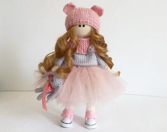 Rag doll /Cloth doll/ Tilda doll/ 11inch doll clothes /Fabric doll/ Art doll only/ Tilda fabric/ Waldorf doll/ Girl textile doll