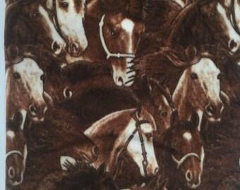 Horses Allover Fleece Blanket - Extra Large