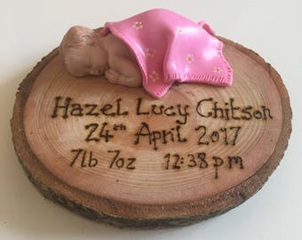 Beautiful fully personalised new birth ornament