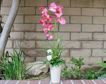 Silk Flower Arrangement - Pink Orchid (S18-26)