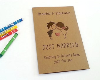 Kids wedding coloring book / wedding favor / kids wedding activities / rustic wedding activity book / kids wedding table - Set of 6