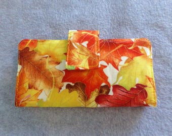 Fabric Wallet - Fall Leaves